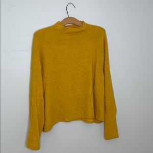 H&M mustard mock neck sweater